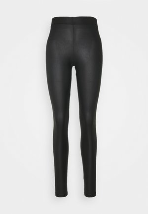 PCNEW SHINY TALL - Leggings - Trousers - black