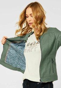 Cecil - Faux leather jacket - grün - 0