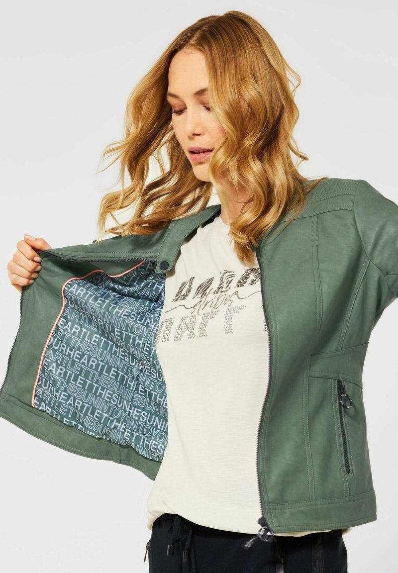 Cecil - Faux leather jacket - grün