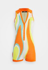 Jaded London - SLEEVELESS INTARSIA ROMPER ABSTRACT ART - Jumpsuit - orange/white/yellow/green - 3