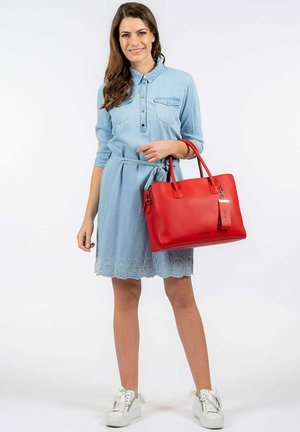LEXY - Handbag - red blue