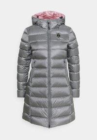 IMPERMEABILE LUNGHI IMBOTTITO - Down coat - silver