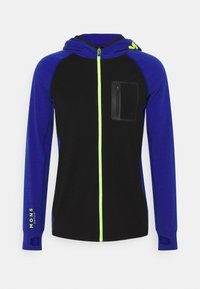 Mons Royale - TRAVERSE FULL ZIP HOOD - Training jacket - ultra blue/black - 7