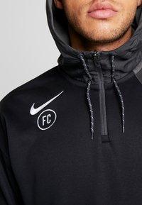 Nike Performance - FC HOODIE - Hoodie - anthracite/black/white - 6