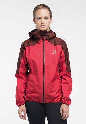 Waterproof jacket - hibiscus red/maroon red