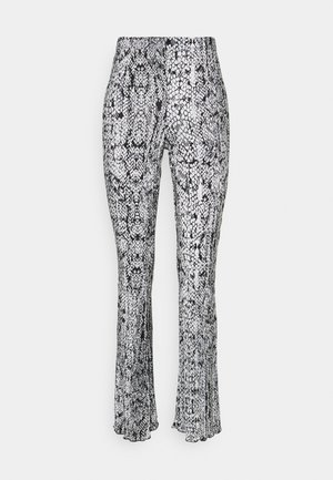 SNAKE PLISSE FLARE - Trousers - blue