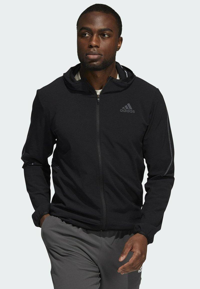 adidas Performance - Tröja med dragkedja - black