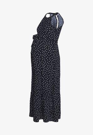 SPOT HALTER MAXI DRESS - Jerseykjole - multi coloured/navy