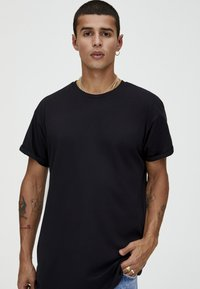 PULL&BEAR - T-shirt basic - black - 3