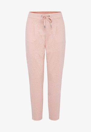 RIZETTA CROP PANTS - Tracksuit bottoms - rose tan melange