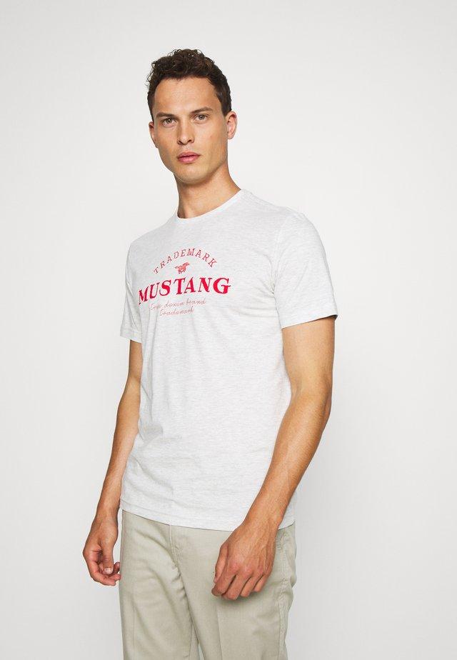 ALEX - Print T-shirt - light grey melange