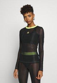 adidas Originals - FIORUCCI INLINE SHEER LONG SLEEVE T-SHIRT - Top sdlouhým rukávem - black - 0