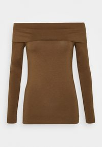 Vero Moda - VMPANDA OFF SHOULDER - Long sleeved top - dark brown - 4