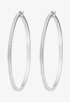 Earrings - silver- coloured