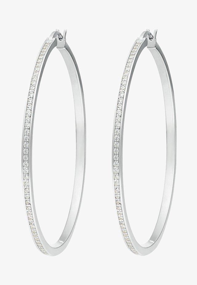 Earrings - silver- coloured