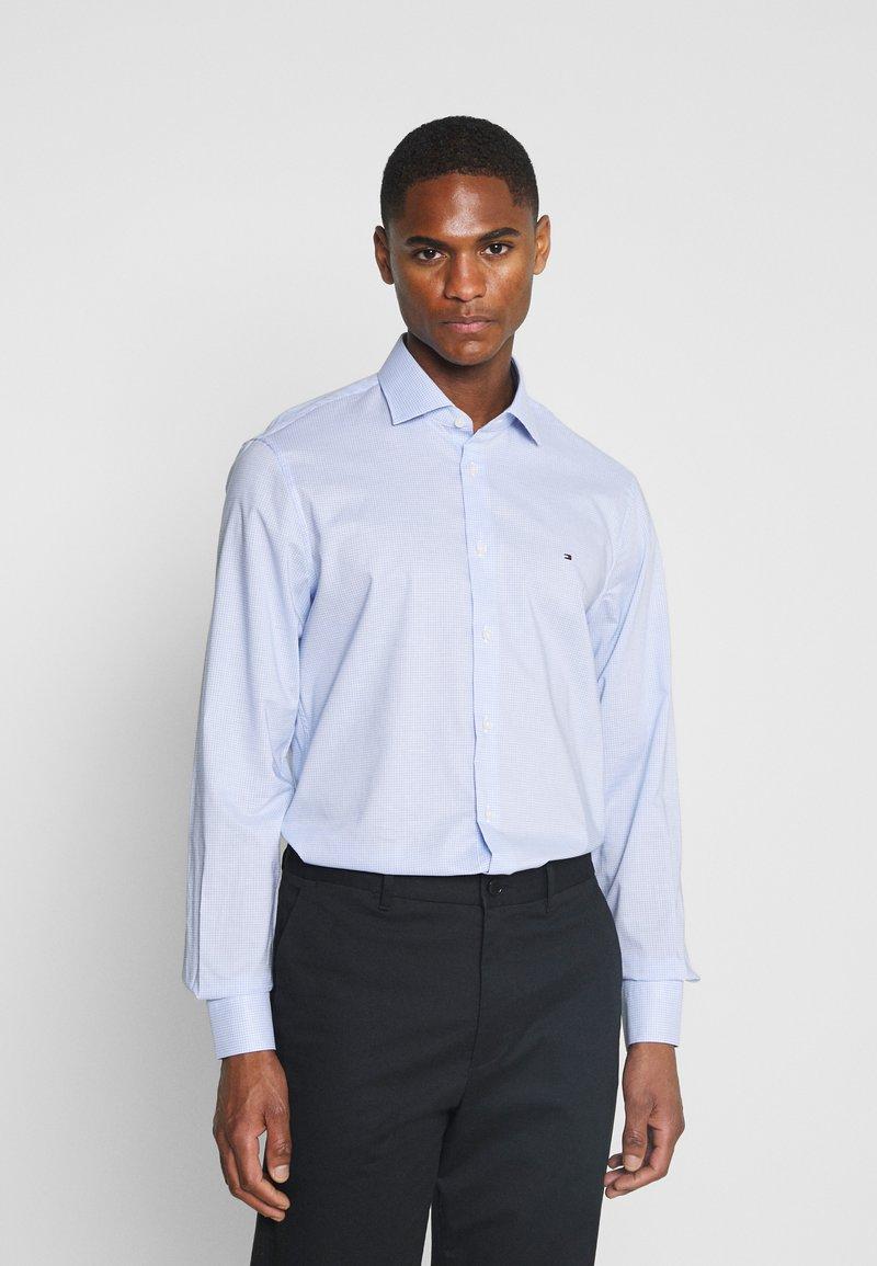 Tommy Hilfiger Tailored - MINI CHECK SLIM FIT - Shirt - light blue/white