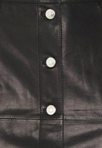 Iro - SKIRT - Kožená sukně - black - 5
