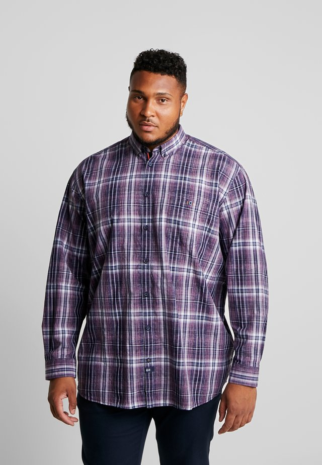 SPACEDYE CHECK - Shirt - autumn grape