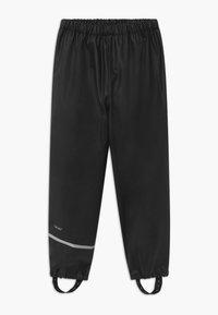 CeLaVi - RAINWEAR PANTS SOLID UNISEX - Rain trousers - black - 0