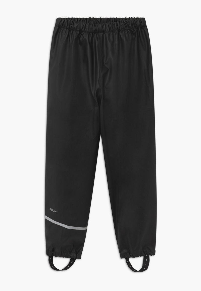 CeLaVi - RAINWEAR PANTS SOLID UNISEX - Rain trousers - black