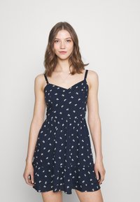 Hollister Co. - BARE SHORT DRESS - Kjole - navy - 0
