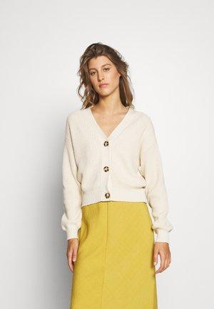 UNDYED COTTON CARDIGAN - Cardigan - beige