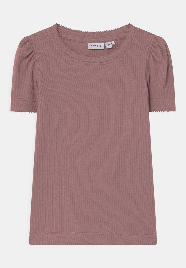 NMFKABEXI SLIM - T-shirts print - woodrose