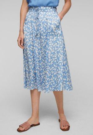 A-line skirt - blue lagoon aop