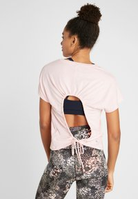 Cotton On Body - DROP SLEEVE TIE BACK - T-shirt print - soft cameo pink marle - 2