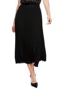 s.Oliver BLACK LABEL - CRÊPE - A-line skirt - true black - 3