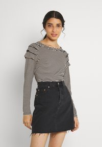 b.young - BYSUVA STRIPE  - Long sleeved top - black mix - 0