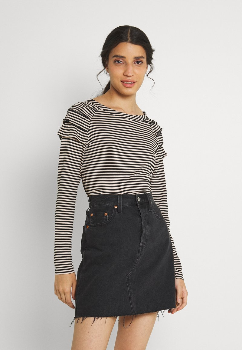 b.young - BYSUVA STRIPE  - Long sleeved top - black mix