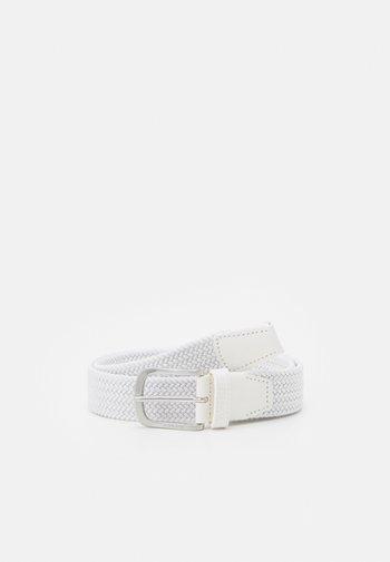 Braided belt - white