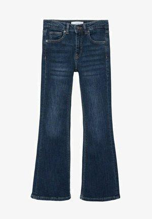 TAILLE HAUTE - Flared Jeans - bleu foncé