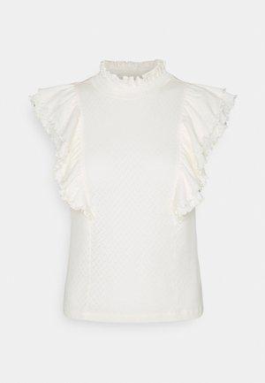 PCLUCY - T-shirts med print - cloud dancer