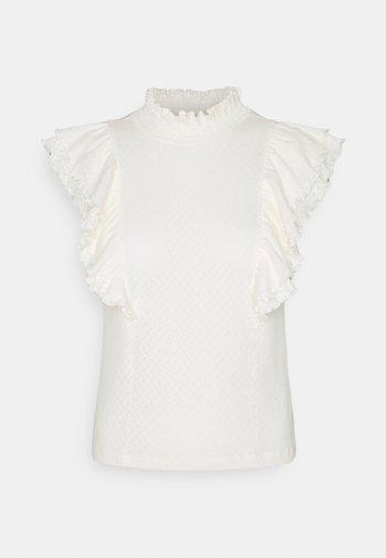 PCLUCY - Print T-shirt - cloud dancer