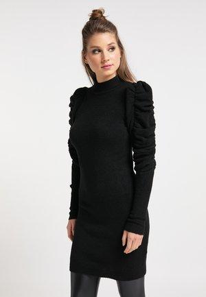 Pletené šaty - schwarz