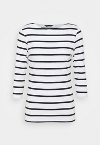 FITTED STRIPE - Long sleeved top - black