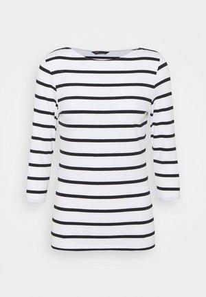 FITTED STRIPE - Langærmede T-shirts - black