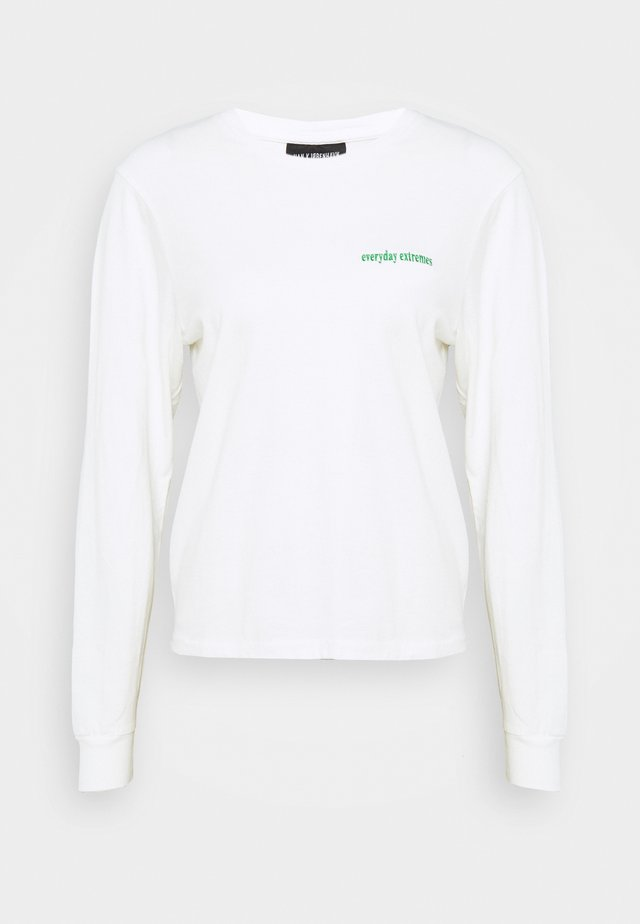 ARTWORK TEE LONG SLEEVE - T-shirt à manches longues - off white