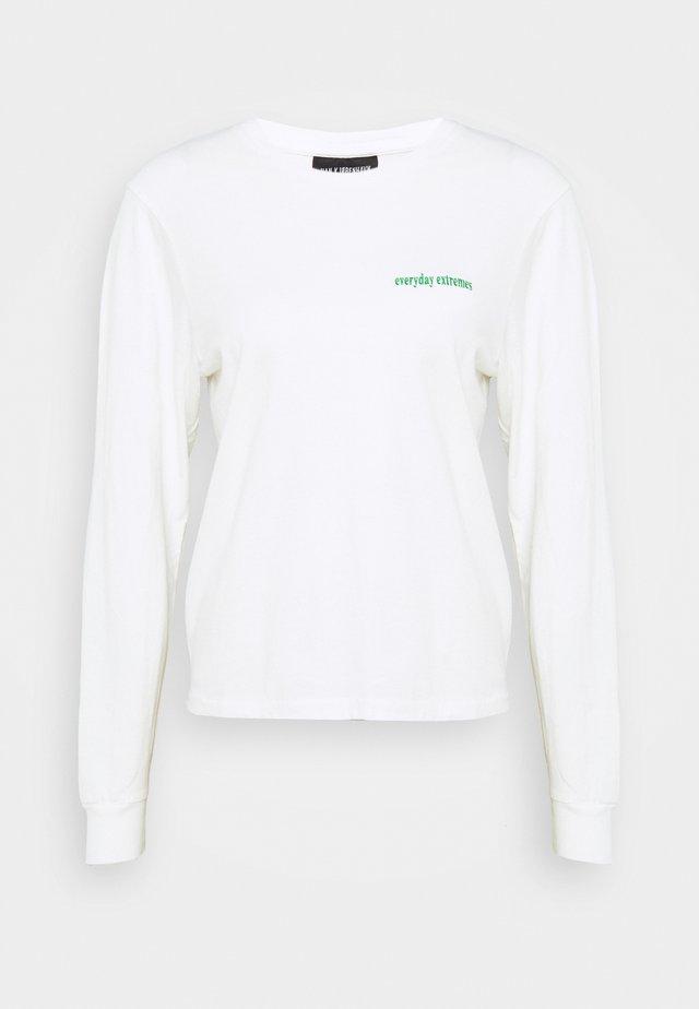 ARTWORK TEE LONG SLEEVE - Long sleeved top - off white