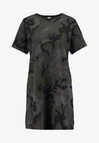 LADIES CAMO TEE DRESS - Žerzejové šaty - dark green