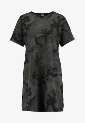 LADIES CAMO TEE DRESS - Jersey dress - dark green