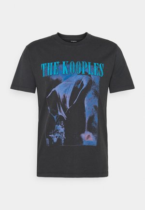 Print T-shirt - black washed