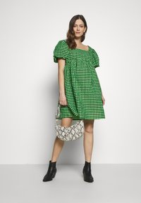 Topshop Maternity - GINGHAM MINI - Day dress - lime - 1