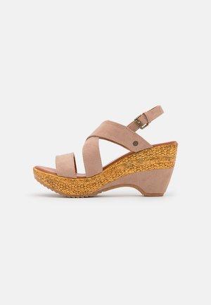 Sandales à plateforme - beige