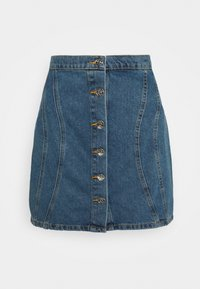 ONLY - ONLRUBY LIFE PANEL - Mini skirt - medium blue denim - 0