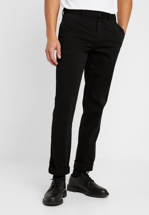 DENTON - Trousers - black