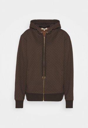 UNISEX MK DOT ZIP HOODIE - Zip-up sweatshirt - chocolate