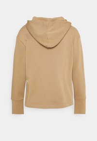 Marc O'Polo DENIM - LONGSLEEVE HOODED LOOSE BODYFIT PLACED PRINT - Mikina s kapucí - milky coffee - 1